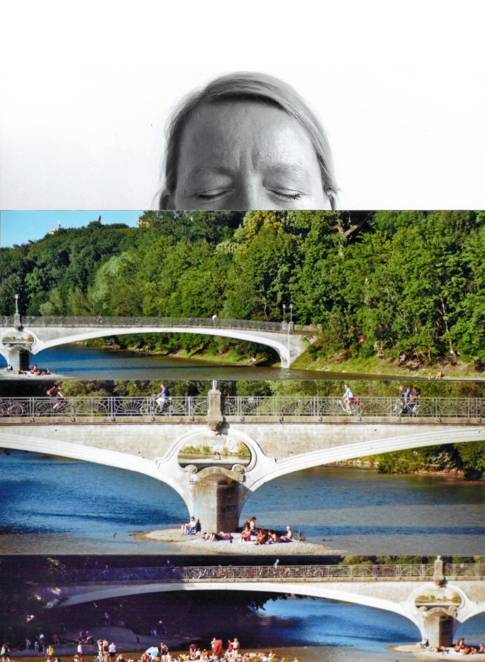 Collage Isarbrücke
